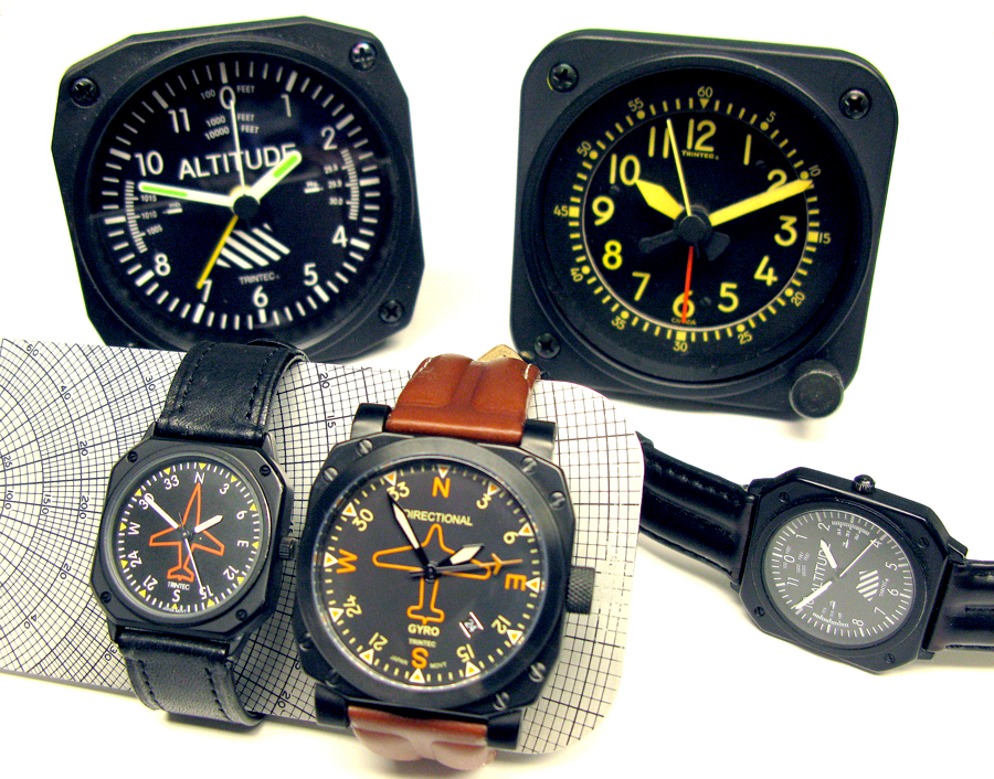 three generations of Trintec time instruments