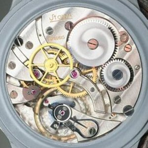 Stowa modified pocket watch movement