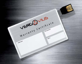 Vergo Avius warranty card (photo credit Dario Tassa)