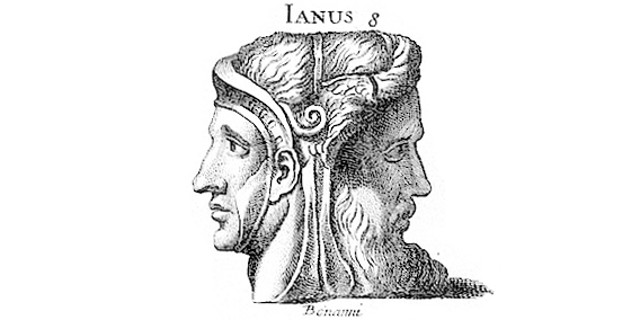 illustration of Roman god Janus, by Bernard de Montfaucon